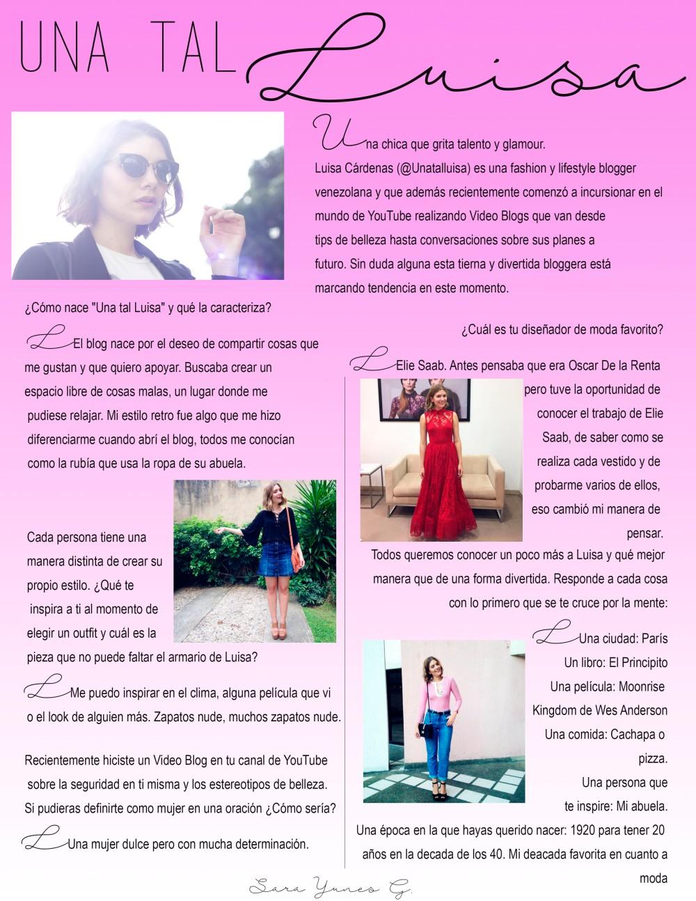 Entrevista a Luisa
